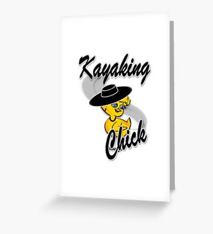 Kayaking Chick #4 Greeting Card
