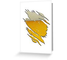 Funny Ripped With Beer Inside Greeting Card