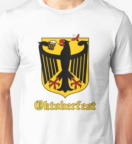 Funny Oktoberfest Germany Crest Parody Unisex T-Shirt