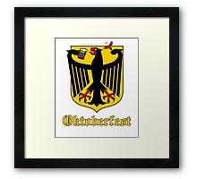 Funny Oktoberfest Germany Crest Parody Framed Print