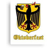 Funny Oktoberfest Germany Crest Parody Canvas Print