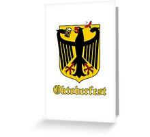 Funny Oktoberfest Germany Crest Parody Greeting Card