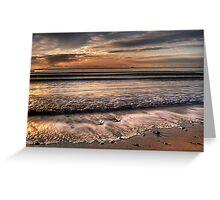Sunrise at Sandbanks beach in Dorset Greeting Card