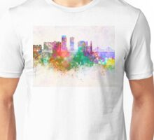 Omaha V2 skyline in watercolor background Unisex T-Shirt