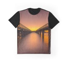 Sunrise Between Bridges Graphic T-Shirt