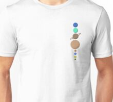 Planets in a vertical line,without any moons Unisex T-Shirt