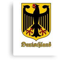Classic Vintage Deutschland Germany Crest Canvas Print