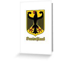 Classic Vintage Deutschland Germany Crest Greeting Card