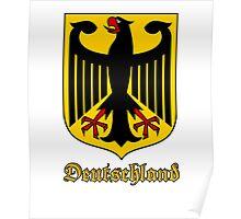 Classic Vintage Deutschland Germany Crest Poster