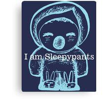 I am Sleepypants Canvas Print