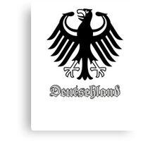 Vintage Classic Deutschland Germany Crest Canvas Print
