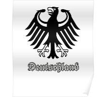 Vintage Classic Deutschland Germany Crest Poster