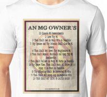 An MG Owners 10 Commandments Unisex T-Shirt
