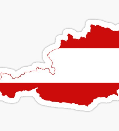 Austria Flag Map Sticker