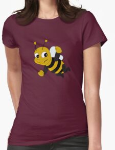 Flying bee cartoon Womens Fitted T-Shirt