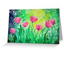 Dancing Tulips by Jan Marvin Greeting Card