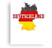 Vintage Classic Deutschland Country With Germany Flag Canvas Print
