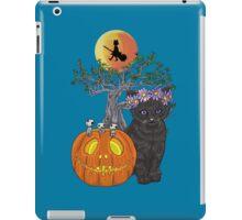 Cat Halloween Flowers iPad Case/Skin