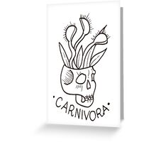 Carnivorous plant Greeting Card