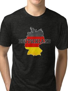 Vintage Classic Deutschland Germany Flag Country Tri-blend T-Shirt