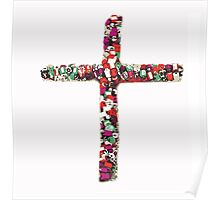 Colorful Cross of Faith Poster