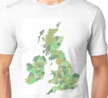 UK and Ireland Map - Green Unisex T-Shirt