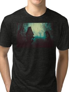 Spooky Witch House in Mist 2 Tri-blend T-Shirt