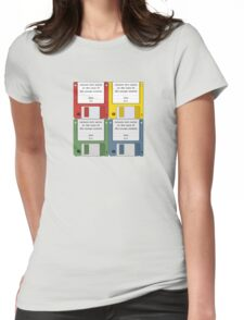 Leisure Suit Larry on 4 floppy discs Womens Fitted T-Shirt