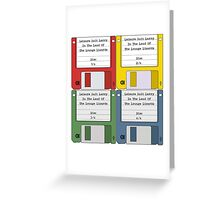 Leisure Suit Larry on 4 floppy discs Greeting Card