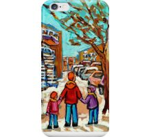 VERDUN WINTER WALK PAINTING iPhone Case/Skin