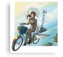 steampunk Victoria Bicicle's Canvas Print