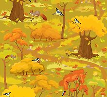 Autumn Forest Landscape by lian2011