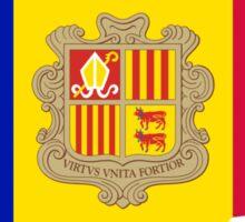 Andorra Flag Map Sticker