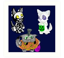 Kittens in Costumes Set 001 Art Print