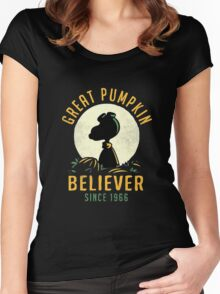 funny tshirt, Great Pumpkin Women's Fitted Scoop T-Shirt