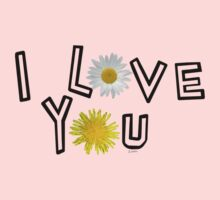 I love you in pale dogwood Baby Tee