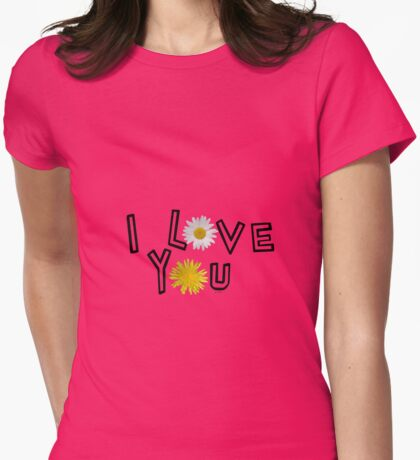 I love you in pink yarrow Womens Fitted T-Shirt