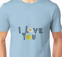I love you in lapis blue Unisex T-Shirt