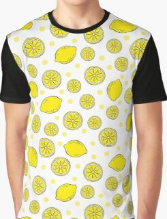 Pattern with bananas and lemons Graphic T-Shirt