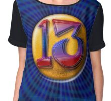 Lucky Number 13 Chiffon Top