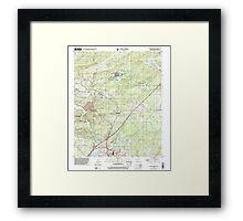 USGS TOPO Map Arkansas AR Malvern North 258999 2000 24000 Framed Print