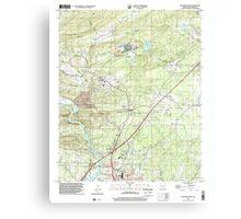 USGS TOPO Map Arkansas AR Malvern North 258999 2000 24000 Canvas Print