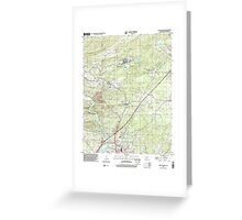 USGS TOPO Map Arkansas AR Malvern North 258999 2000 24000 Greeting Card