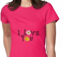 I love you in rose quartz Womens Fitted T-Shirt
