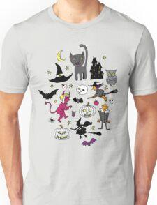 Retro Halloween - on Turquoise Unisex T-Shirt