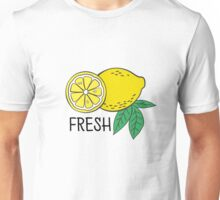 Pattern with bananas and lemons Unisex T-Shirt