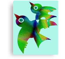 Birds - forest animals, flying, fluttering sky Canvas Print