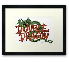 DOUBLE DRAGON - MASTER SYSTEM ART BOX Framed Print