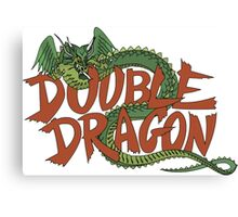 DOUBLE DRAGON - MASTER SYSTEM ART BOX Canvas Print