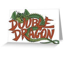 DOUBLE DRAGON - MASTER SYSTEM ART BOX Greeting Card